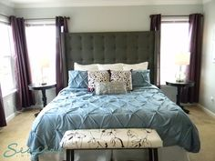 Purples Blues And Grays Are Perfect Paint Colors For An Elegant Bedroom Remodel Home