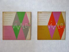 Album cover design by Alvin Lustig, 1954, via Elina Minn via Grain Edit