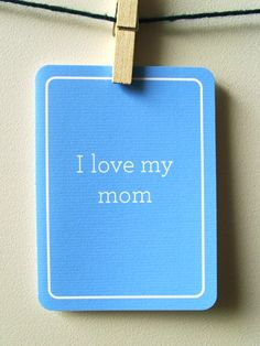 I Love My Mom Card by 4four on Etsy, $4.00