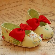 cotton baby shoes FLORA size 2 ready to ship by flippybaby on Etsy