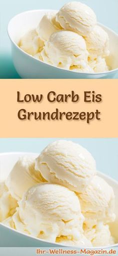 Schnelles Low Carb Eis selber machen - Grundrezept - gesundes Eis-Rezept Basic recipe for homemade low carb ice cream - a simple ice cream recipe for low-calorie, low-carbohydrate and healthy ice cream without added sugar . Paleo Dessert, Keto Desserts, Dessert Recipes, Dinner Recipes, Lunch Recipes, Easy Ice Cream Recipe, Ice Cream Recipes, Basic Recipe, Recipe Recipe