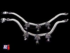 Silver Anklets, Silver Jewellery, Silver Heels Wedding, Anklet Designs, Fancy, Indian, Jewels, Traditional, Bridal