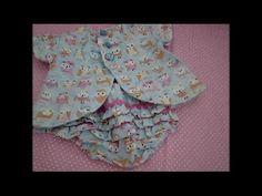 Vestido para bebê com manga e abertura atrás passo a passo | Cantinho do Video Costura em Roupas