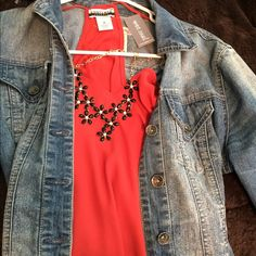 Brand new w/ tags scrappy red tank top Size medium, new never been worn. Perfect for your Christmas party Wet Seal Tops Blouses