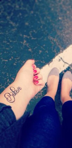 super cute believe tattoo!