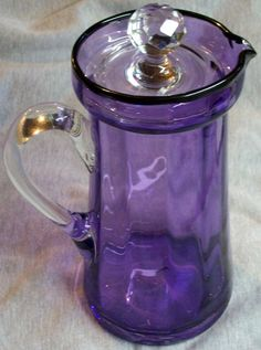 STEUBEN AMETHYST PURPLE GLASS PITCHER