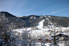 genialer Skitag am 2.1.2015 - Blick auf die Hermann-Maier-Weltcupstrecke in Flachau