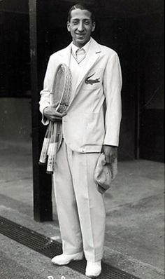 Rene Lacoste -=- French tennis player and style icon that designed his own shirt to play in, the Lacoste tennis shirt; created in 1926 and began marketing in 1933, Magnifique !!