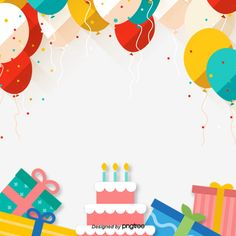 Decorative Background for Colorful Balloon Birthday Party Birthday Party Images, Birthday Party Background, Birthday Wishes Cake, Happy Birthday Balloons, Birthday Greetings, Birthday Party Decorations, Birthday Cards, Free Birthday, Birthday Parties