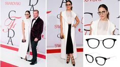 Katharine McPhee joined Council of Fashion Designers of America (CFDA) member and Leisure Society founder Shane Baum on the red carpet for the 2015 CFDA Fashion Awards at Alice Tully Hall at the Lincoln Center in New York City. Katharine wore a chic black and white ensemble paired perfectly with her Keen in Black 12K glasses #LeisureSociety