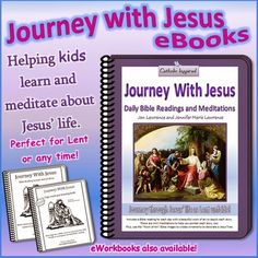 Journey with Jesus Bible Reading and Meditation eBook ~ Plus Jesus Tree File and Journey Page Lent i Jesus Tree, Epiphany Crafts, Prayer Chain, Catholic Kids, Catholic Crafts, Catholic Books, Inspired Learning, Jesus Bible, Jesus Lives
