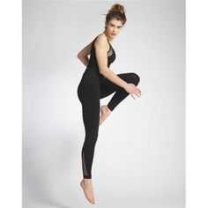 The DETROIT leggings made of stretch fabric with contrasting tulle inserts perfectly match technicality and femininity. They stay in place during your exe