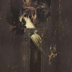 Artwork by Denis Forkas Erebus Enthroned - Temple Under Hell Black Metal Dark Artwork, Occult Art, Occult Books, Fantasy Concept Art, Arte Horror, Fantastic Art, Surreal Art, Angels And Demons, Painting Inspiration