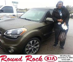 #HappyAnniversary to Cyanthia Bedford on your 2013 #Kia #Soul from Fidel Martinez at Round Rock Kia!