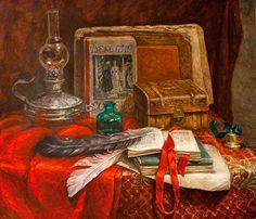 Valentina Spivak. Still life in red