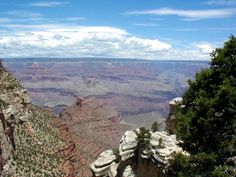 A view of the South Rim of the Grand Canyon in Arizona