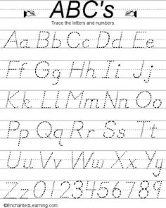 Alphabet printables (D'Nealian)