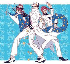 JJBA   Jolyne, Jotaro, and Kakyoin ... Aww, so cute. :)