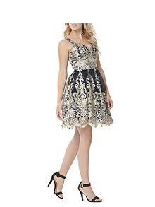Baroque skater dress