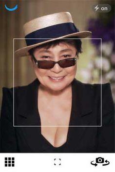 Smile, you're on Yoko Ono's new app