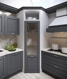 ✔ 44 best small kitchen design ideas for your tiny space 17 - Kitchen Pantry Cabinets Pantry Design, Cabinet Design, Cabinet Ideas, Cupboard Ideas, Pantry Ideas, Kitchen Organization, Kitchen Storage, Corner Kitchen Pantry, Corner Pantry Cabinet