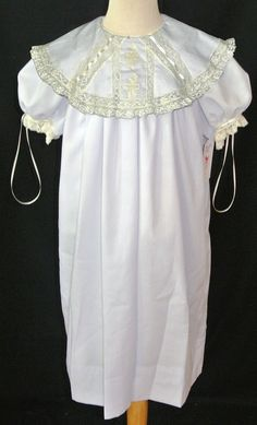Heirloom Girl's Dress with Round Collar and by ChildrensCottage