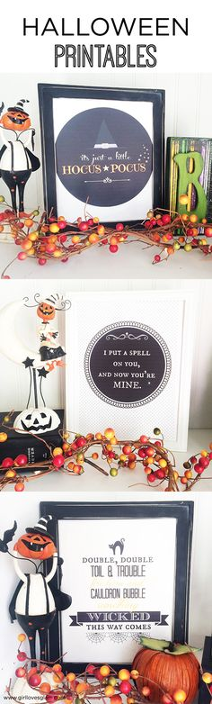 Halloween Printables on www.girllovesglam.com