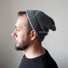 Unisex Design Hat Gray Hat Knit Men and Women Hat Knitted