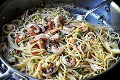 Самые вкусные рецепты: Спагетти с креветками
