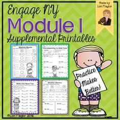Adorable printables to supplement Engage NY Module 1 for second grade.