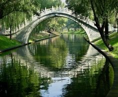Picture of Moon Gate, Purple Bamboo Park, Beijing, China Water Reflections Summer stock photo, images and stock photography. Places Around The World, The Places Youll Go, Places To See, Around The Worlds, Beijing China, Hong Kong, Gate Images, Moon Gate, Peking