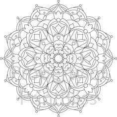 Flower Mandala Coloring Pages Printable 22 Flower Mandala Printable Coloring Page by Printbliss On Pattern Coloring Pages, Cute Coloring Pages, Mandala Coloring Pages, Animal Coloring Pages, Printable Coloring Pages, Adult Coloring Pages, Coloring Books, Pinterest Sketches, Mandalas Drawing