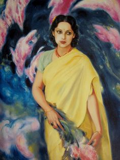 Devika Rani Roerich - Painting by Nicholas Roerich by Sacchidanand (Sachi) Chavan, via Flickr