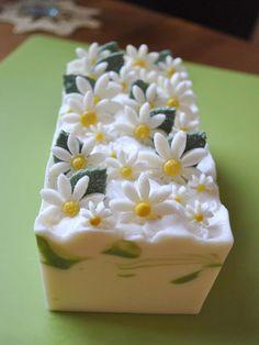 Daisy soap before it is cut.