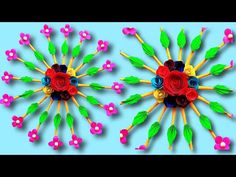 Beautiful wall hanging craft ideas with paper easy/DIY/Paper Craft/Paper Art/Paper Flower Rose - YouTube Vj Art, Diy Paper, Paper Crafts, Shiva Lord Wallpapers, Wall Hanging Crafts, Simple Art, Beautiful Wall, Decorative Items, Paper Flowers