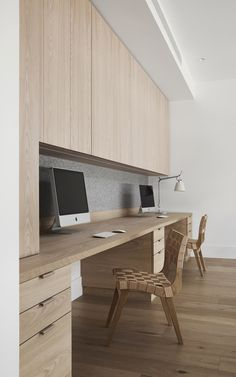 White House by Austin Design Associates - Melbourne Design Gallery Home Office Space, Home Office Desks, Small Office, Office Interior Design, Office Interiors, Office Cabinet Design, Bedroom Minimalist, Minimalist House, Minimalist Kitchen
