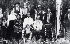 Bannock indians with two white women. The Bannock are prominent in American history due to the Bannock War of 1878. After the war, the Bannock moved onto the Fort Hall Indian Reservation with the Northern Shoshone & gradually their tribes merged. Today they are called the Shoshone-Bannock.