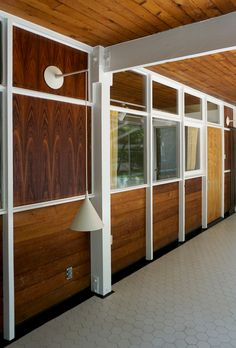 Esoteric Survey: De Pree House #Eames architecture with George Nelson light fixture