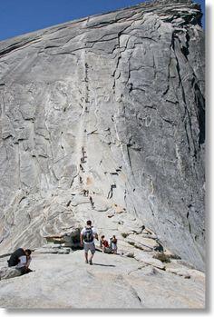 Hiking Half Dome, Yosemite