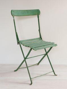 Set of 6 Vintage French Folding Cafe chairs – Decorative Antiques UK