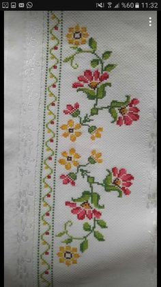 The most beautiful cross-stitch pattern - Knitting, Crochet Love Cross Stitch Letters, Cross Stitch Borders, Cross Stitch Rose, Modern Cross Stitch, Cross Stitch Flowers, Cross Stitch Charts, Cross Stitch Designs, Cross Stitching, Cross Stitch Embroidery
