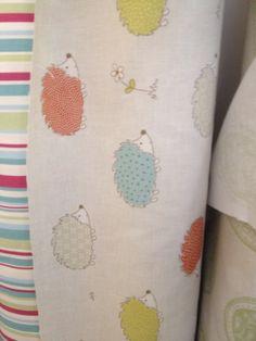 Hedgehog fabric Hedgehog, Nursery, Interior Design, Sewing, Fabric, Nest Design, Tejido, Dressmaking, Tela