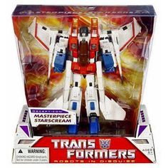 Transformers Masterpiece Starscream White *** You can find out more details at the link of the image. Transformers Masterpiece, Transformers Action Figures, Transformers Optimus Prime, Hasbro Transformers, Transformers Generation 1, Who Goes There, The Iron Giant, Disney Pixar Cars, Designer Toys