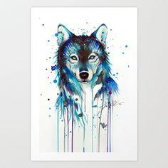 -Dark Wolf- Art Print by PeeGeeArts - $25.00