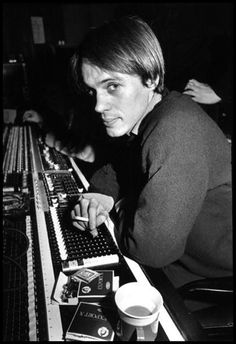 Tom Verlaine during Television's Marque Moon recording sessions 1975.