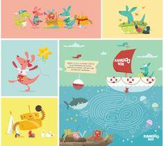 Kangoo Box es una empresa de Ropa infantil con oficinas en la Ciudad de México. El branding Kangoo box crea un mundo ilustrado en el que elementos coloridos y divertidos interactúan dentro de las aplicaciones de la marca.