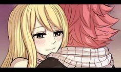 NaLu Fluff Week Day 3: Cuddling ( ˘⌣˘)♡(˘⌣˘ )The first time I draw the animation!