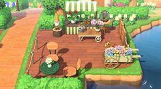 My Animal Crossing New Horizons *Work in progress* Nintendo Switch, Garden Animals, Animal Crossing Game, Flower Stands, Animal Games, Island Design, New Leaf, Decoration, Cute Animals