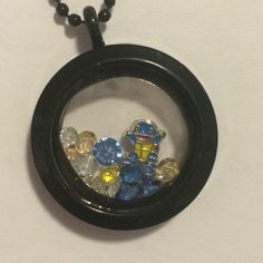 Squirtle Pokemon Starter Floating Charm Memory Locket - pinned by pin4etsy.com
