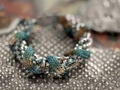 inspirace - háčkování a pletení s korálkama